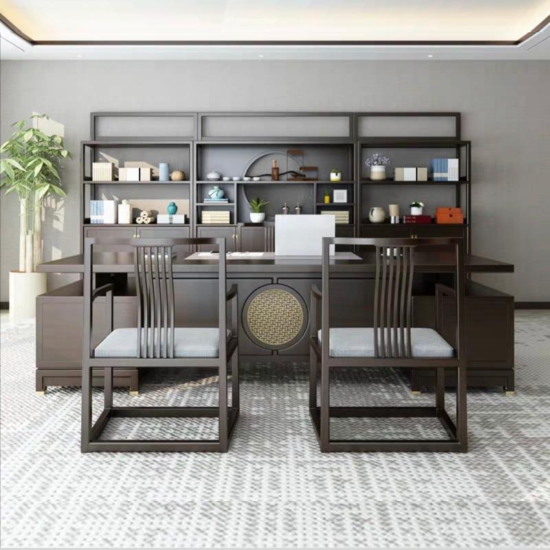 新中式办公桌05