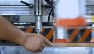 生产设备打孔