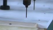 板式生产车间 打预埋孔
