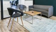 [雅风办公家具展厅]一楼主管区搭配休闲区沙发休闲椅