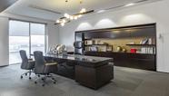 雅风办公家具展厅四楼品尊老板办公桌