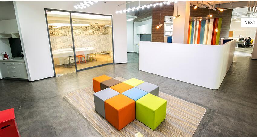 创意年轻化的色彩 生动灵活办公空间设计欣赏