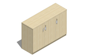 板式文件柜标普三门01低柜