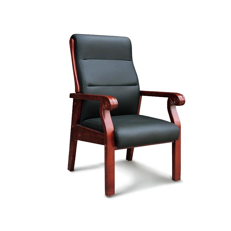 实木油漆会议办公椅