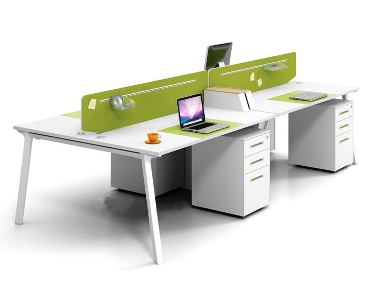 雅风E系列简约开放式员工办公桌组