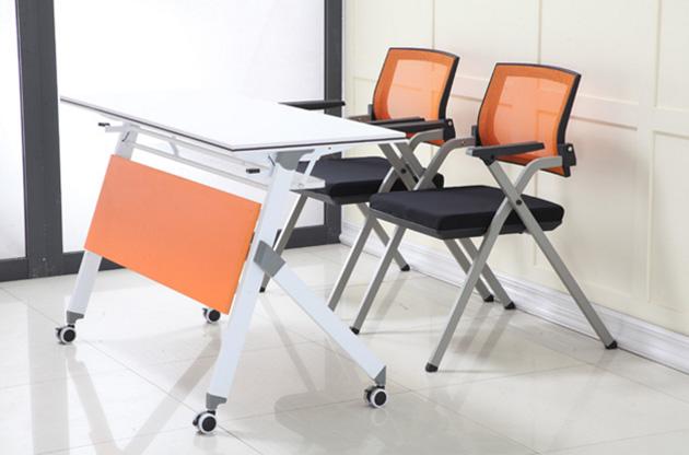 现代办公室培训可折叠桌椅厂家