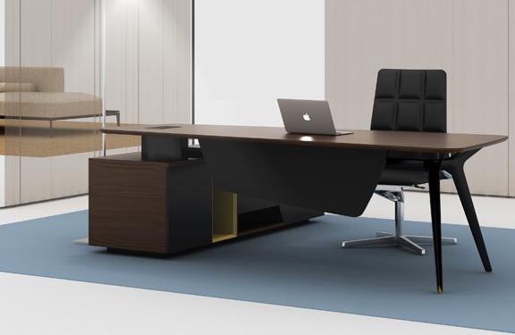 X油漆大班台 经理桌 现代实木办公桌 时尚板式办公桌