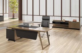 桥实木油漆办公桌