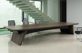 桥系列实木油漆会议桌